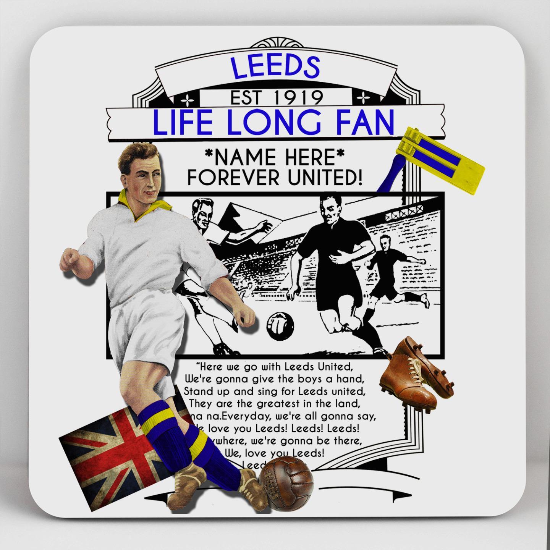 Personalised Mug Cup Leeds Football Vintage Retro Christmas Gift Dad ...