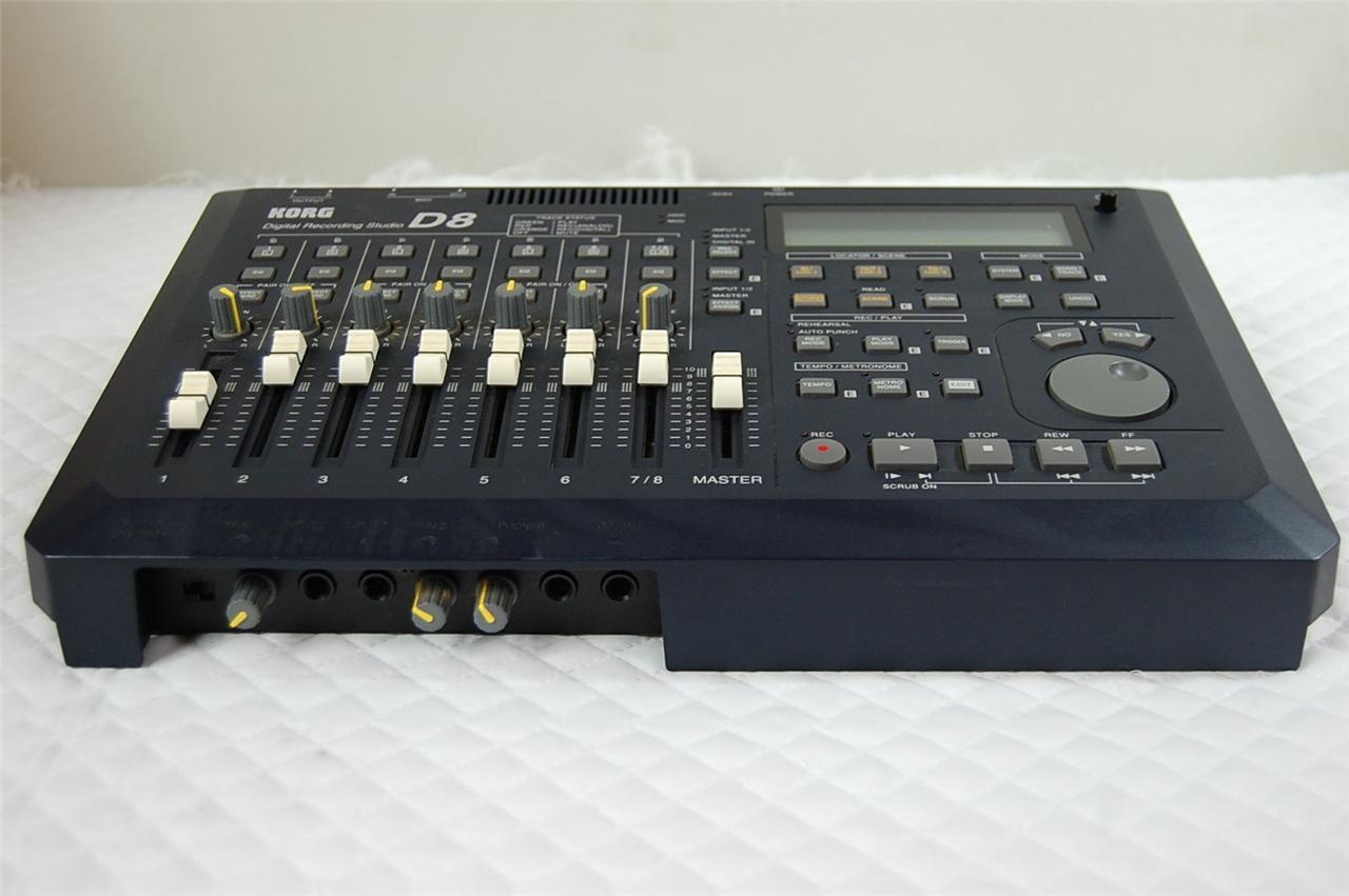 korg d8 multitrack hd 8 track recorder digital recording studio. Black Bedroom Furniture Sets. Home Design Ideas