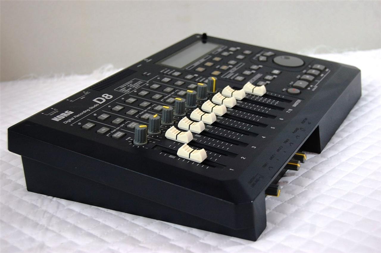 korg d8 multitrack hd 8 track recorder digital recording studio ebay. Black Bedroom Furniture Sets. Home Design Ideas