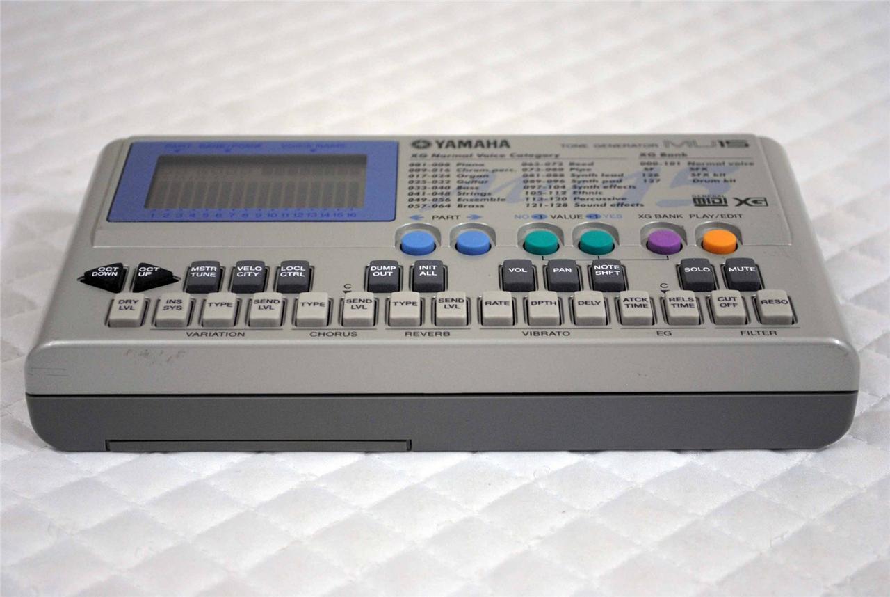yamaha mu15 xg tone generator portable midi sound module synthesizer ebay. Black Bedroom Furniture Sets. Home Design Ideas