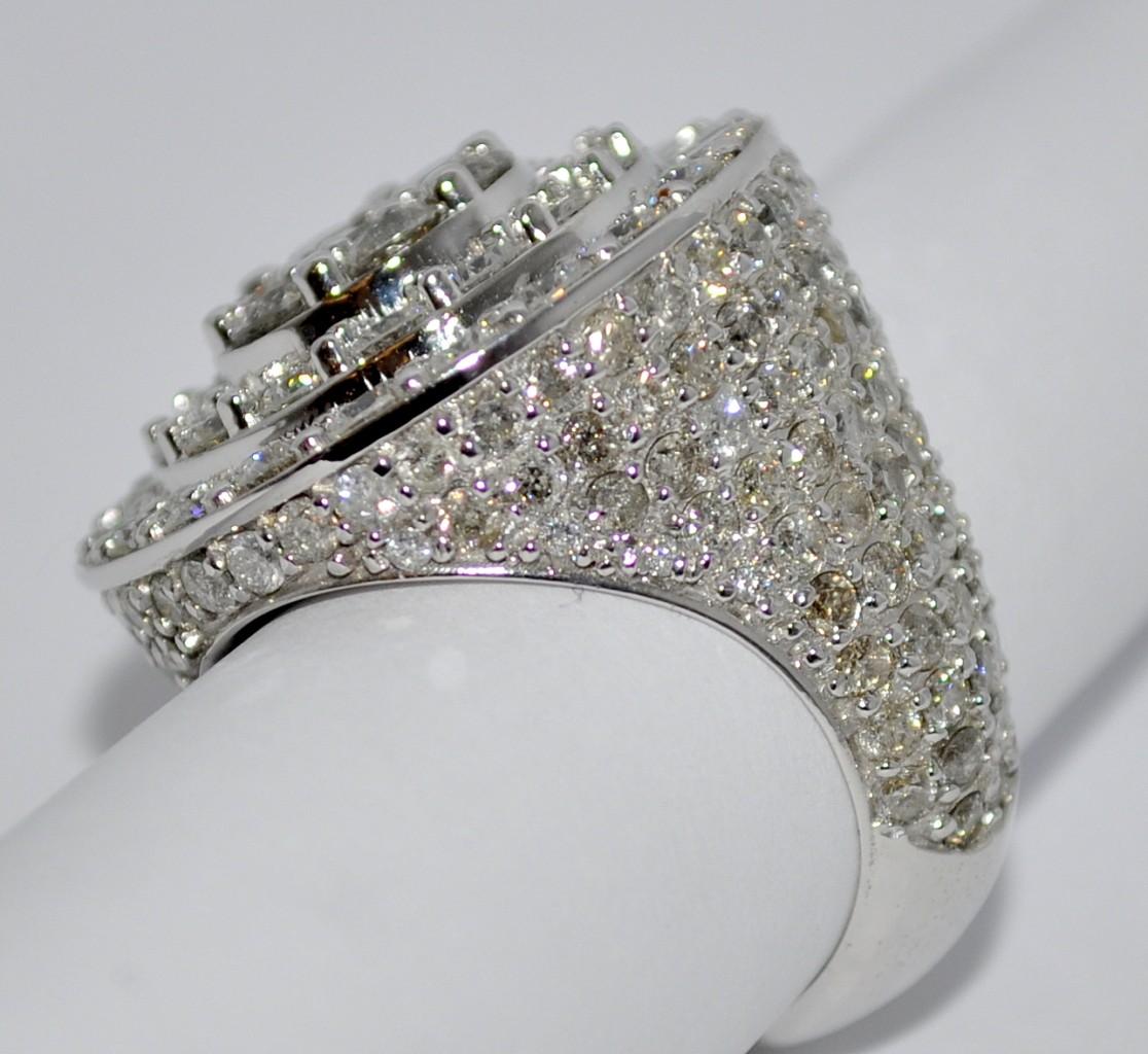 Mens Fake Diamond Pinky Rings