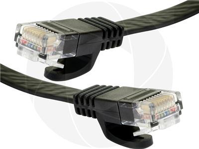 Cat5e 30AWG RJ45 Lan UTP Flat Ethernet Network Gigabit Patch Cable 25ft Black