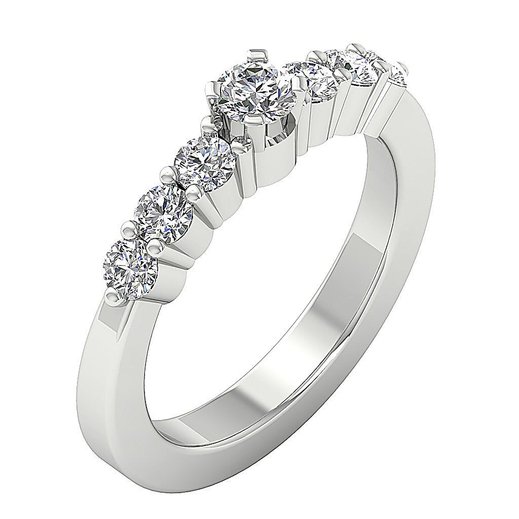 Diamond Solitaire Engagement Ring I1 H 1.01ct Genuine Diamond 14kt Solid Gold Prong Set