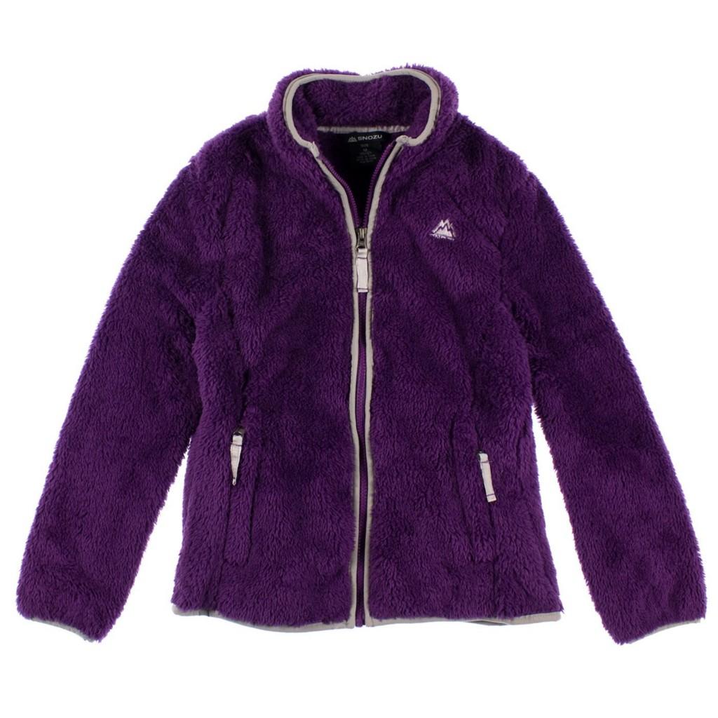 NEW W/T GIRLS SNOZU FAUX FUR FUZZY FLEECE WINTER Jacket