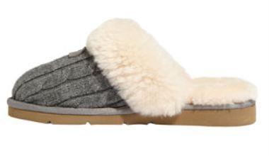 New Kirkland Signature Cozy Knit Shearling Slippers