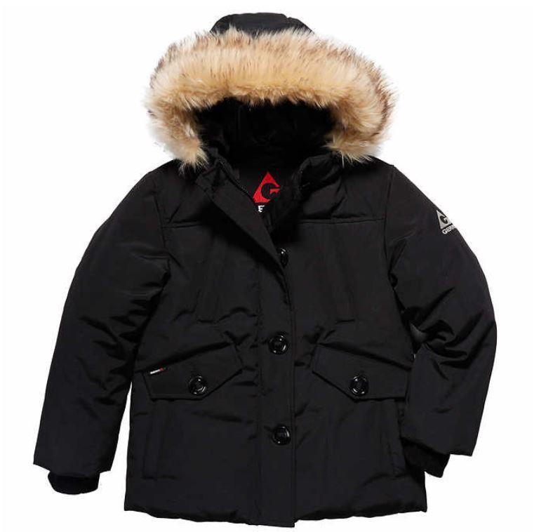 New Girls Gerry Hooded Parka Faux Fur Trim Hood Winter