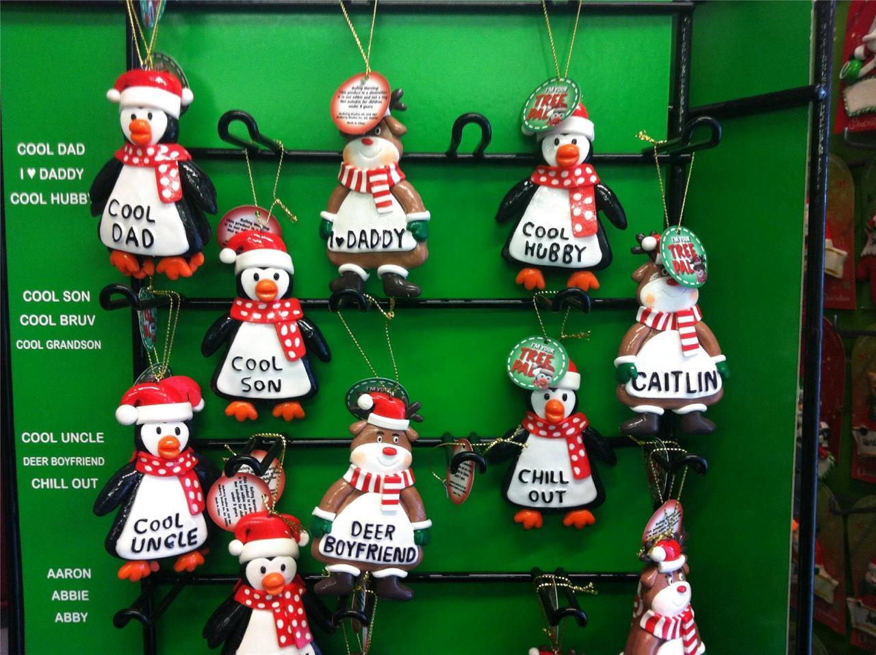 Christmas Decorations Personalised Name Ebay