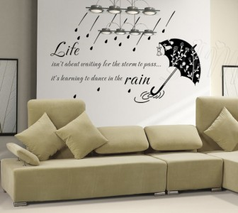 Life inspiration wall art quote decal life isn 39 t about for Bedroom inspiration quotes