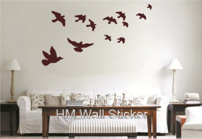 12 free flying birds wall decals in brown ebay