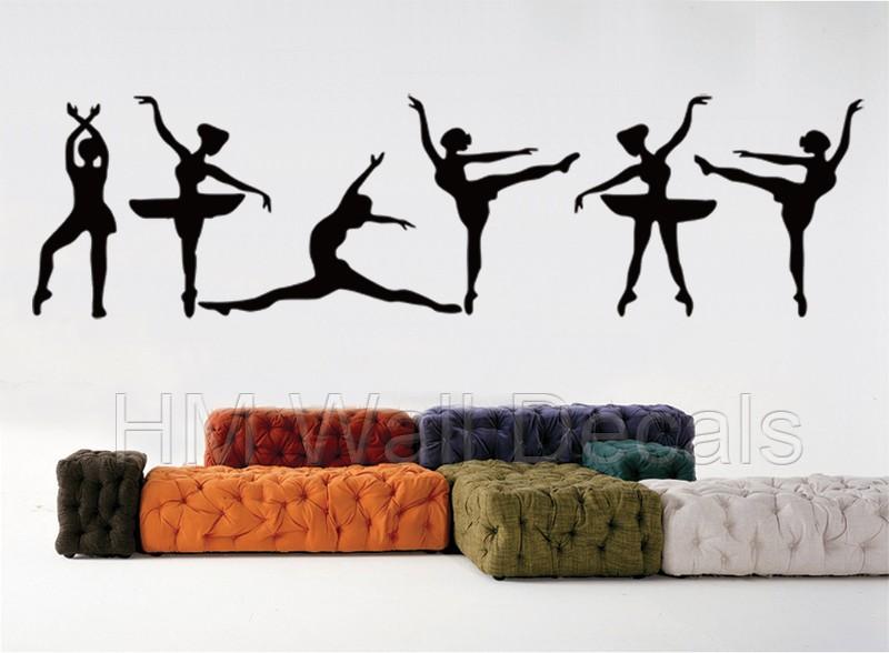Ballet Wall Art 6 gorgeous ballerina wall art decals | ebay