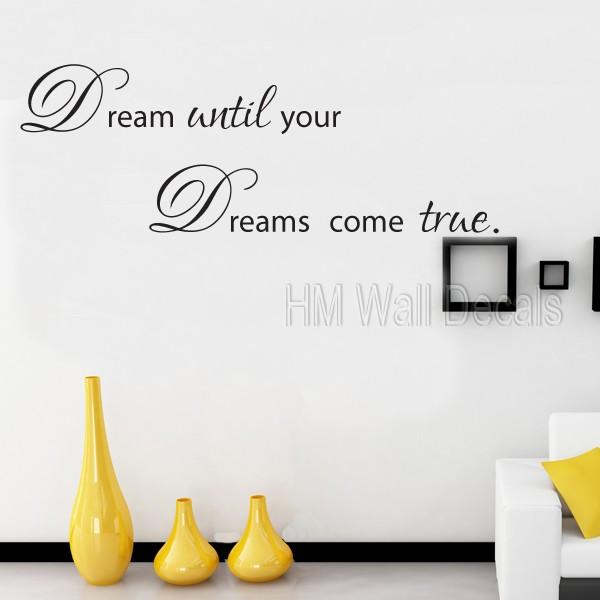 "/""Make Dream Come True/"" Inspirational Quotes Removable Wall Sticker Decal Decor"