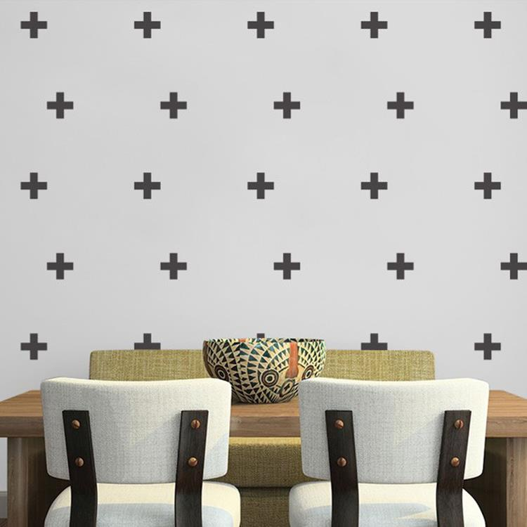 swiss cross removable wall stickers vinyl decal for home, kids room