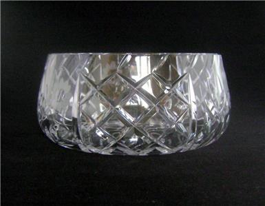 Details about Vintage Lead Crystal Cut Glass Fruit Bowl 20 cm wide Art Deco  Style & Period