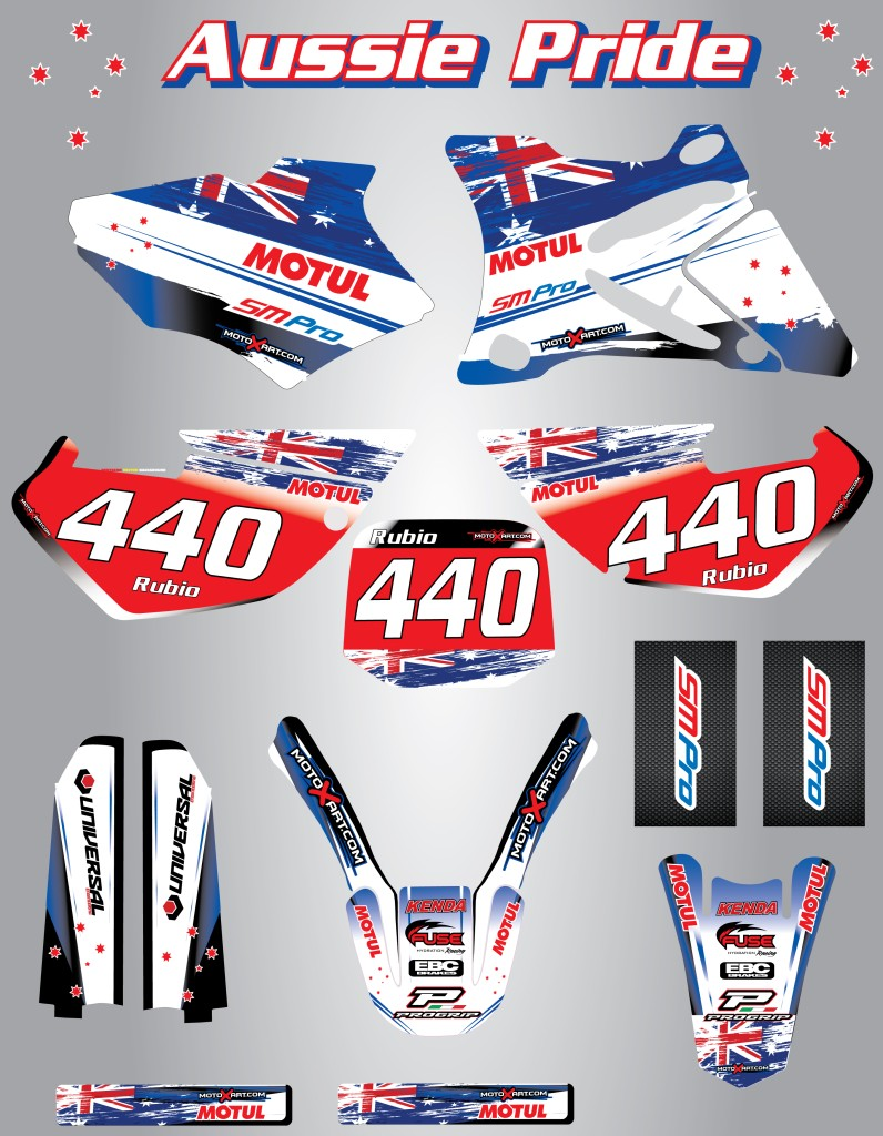 Image is loading full custom graphic kit aussie pride yamaha xtz