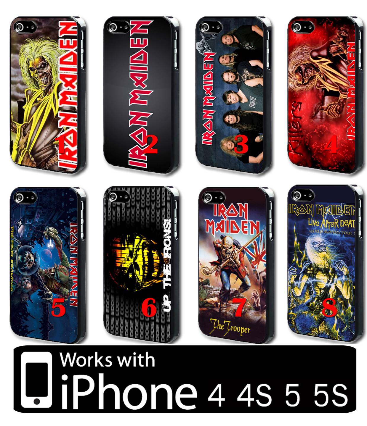 Iron Maiden IPhone 4 4s 5 5s Hard Case Cover UK Heavy