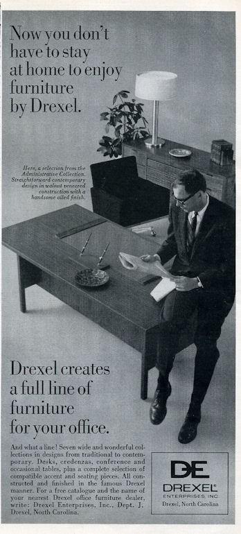 1966 Drexel Quot De Quot Vintage 60 S Furniture Chair Desk Print