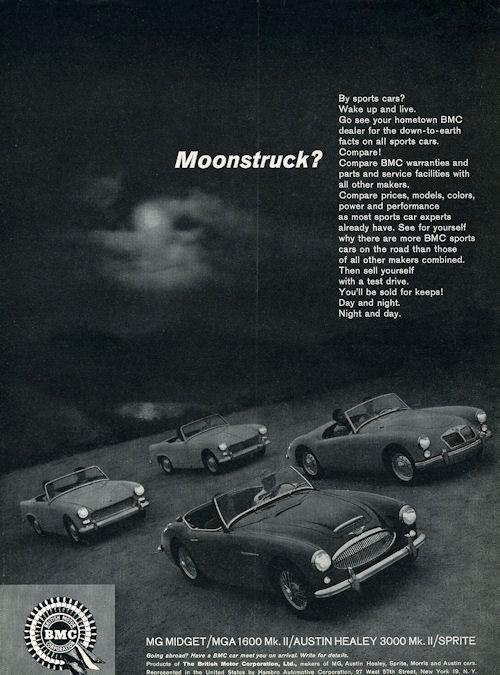 1963 British Motor Corp Print Ad Austin Healey 3000 Mg
