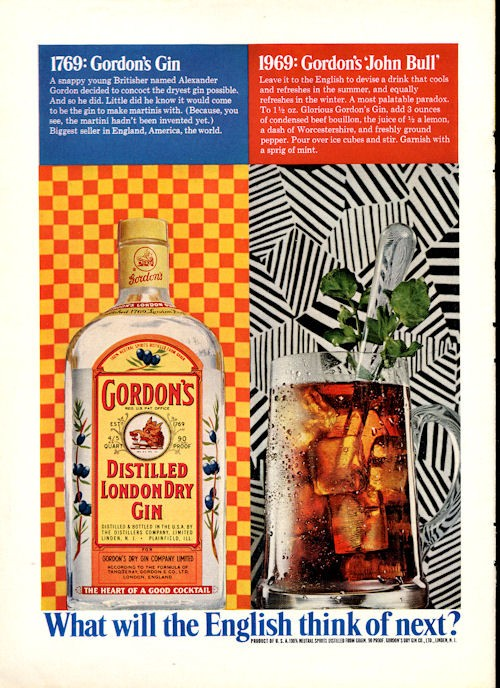 Details about 1969 Gordon's London Dry GIN