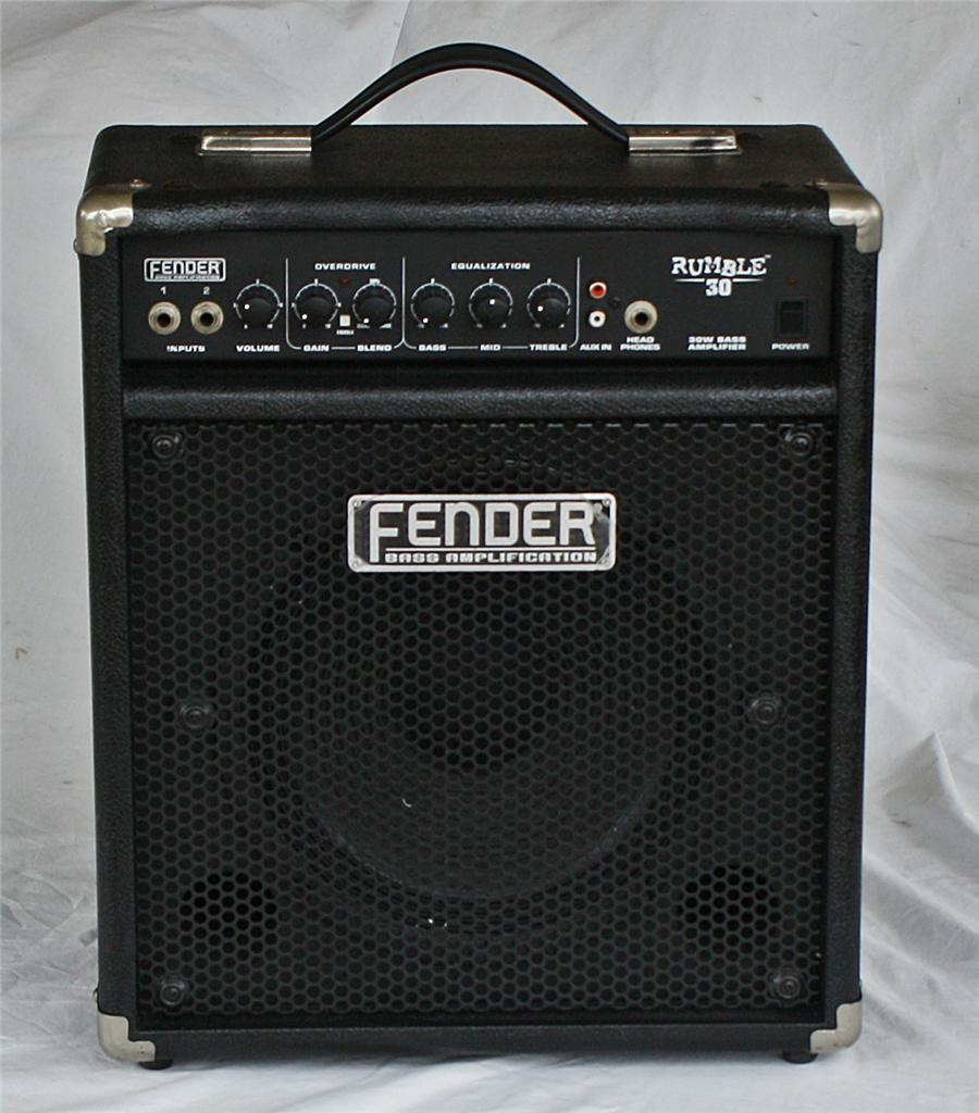 fender rumble 30 30w 1x10 bass guitar combo amp amplifier ebay. Black Bedroom Furniture Sets. Home Design Ideas