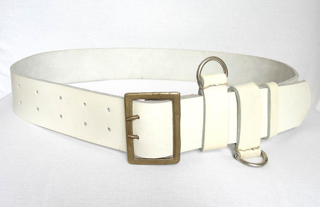 Korean War era Bulgarian traffic Control officer white leather belt.  Special issue to army officers with duties regarding the transportation of  military ... 366e2b3c98b