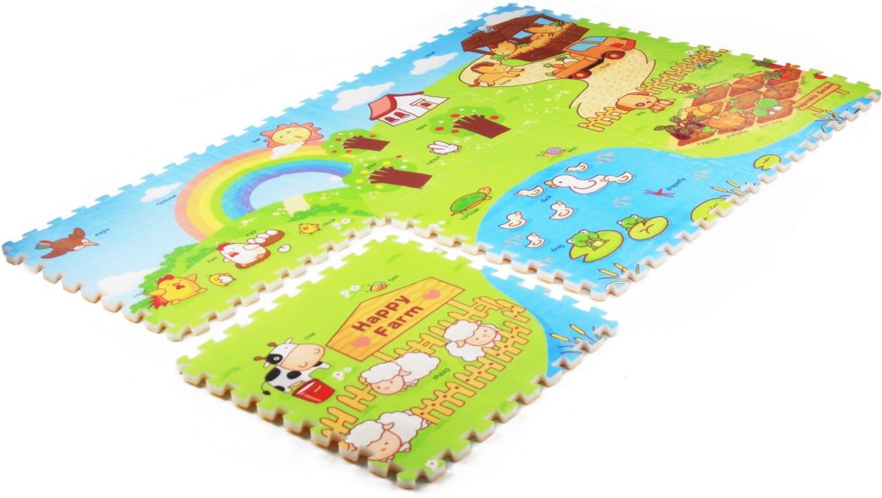 Interlocking Foam Puzzle Mat Baby Play Mat Kids Play 1 8x1