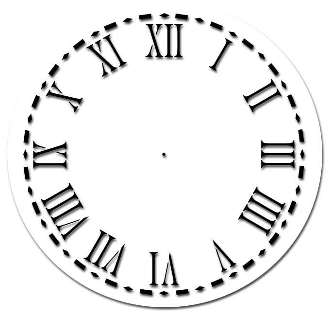 Clock Face Stencil Template 5 In Roman Numerals Ebay