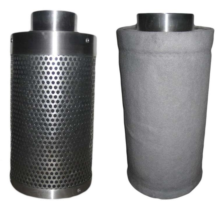 """6"""" CARBON AIR FILTER COMBO INLINE FAN EXHAUST inch SIX"""