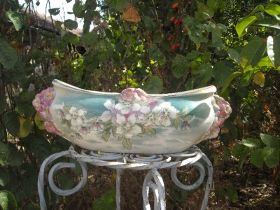 Stunning Antique French Luneville Art Nouveau Ceramic Jardinere 1900