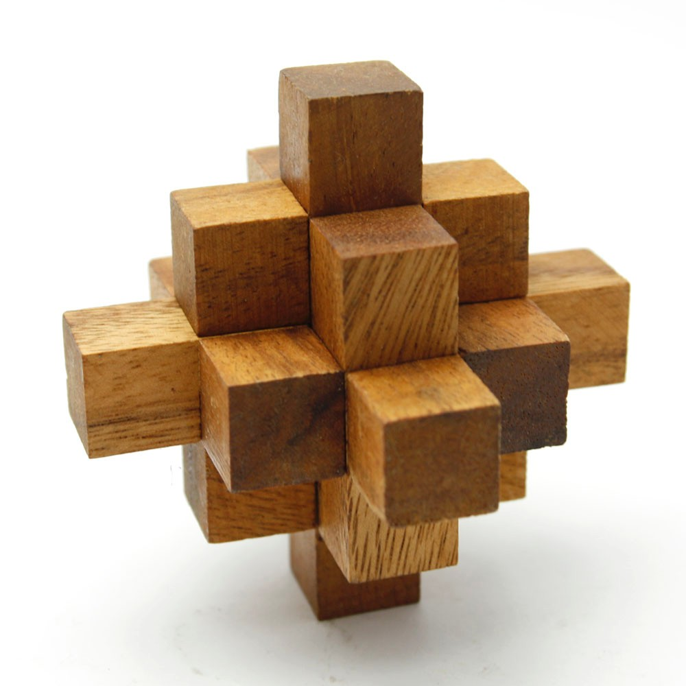 Falling Star Puzzle Assembly Wooden Brain Teaser 3D Jigsaw
