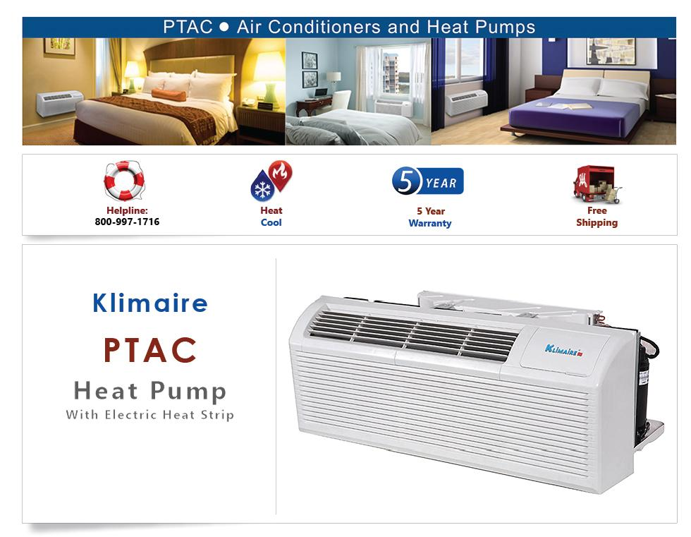 Ptac Unit Heat Pump Air Conditioner Heat Strip 15000 Btu