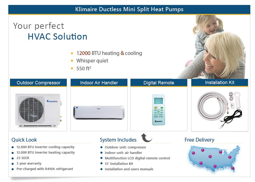 ductless air conditioner mini split ac heat pump 12000 btu. Black Bedroom Furniture Sets. Home Design Ideas