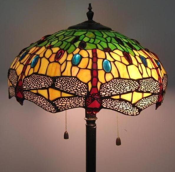 Tiffany Style Dragonfly Design 577pcs Glass Floor Lamp