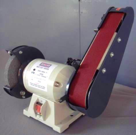 Metex 150mm Bench Grinder Linisher Sander Sanding