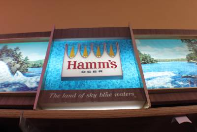 Vintage Rare Hamms Rippler Motion Waterfall Beer Sign