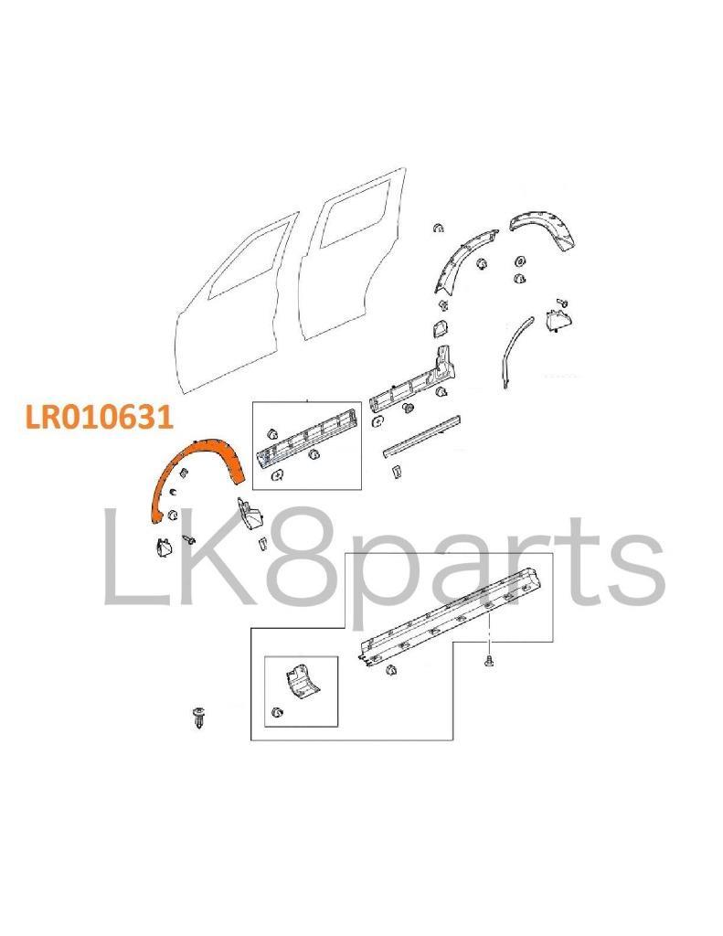 LAND ROVER LR3 GENUINE FRONT FENDER FLARE WHEELARCH MOULDING RH DFJ000022PCL