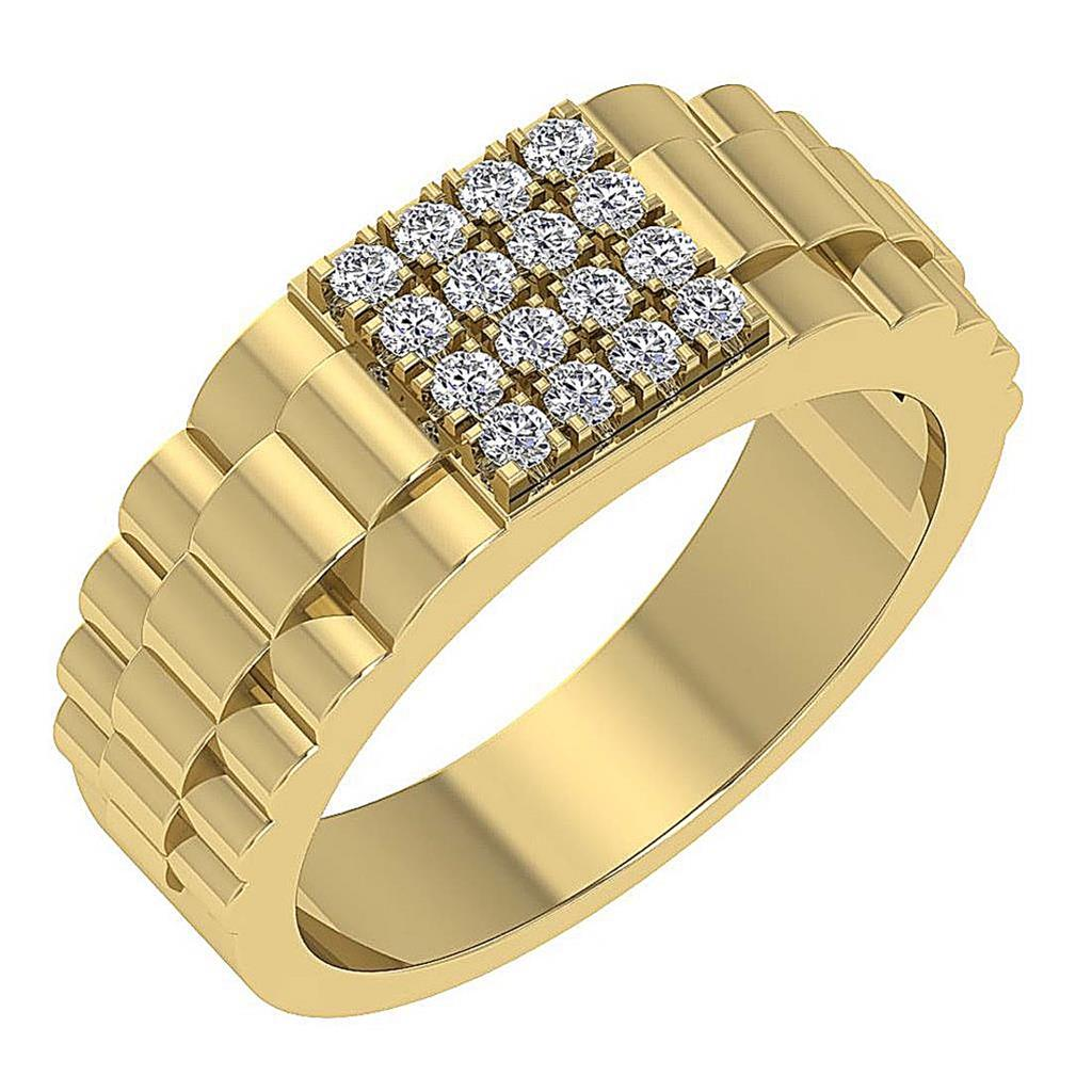 b92ba479856cf Details about Natural Round Diamond Rolex Style Mens Ring I1 G 0.55Ct 14K  Solid Gold 9.10mm