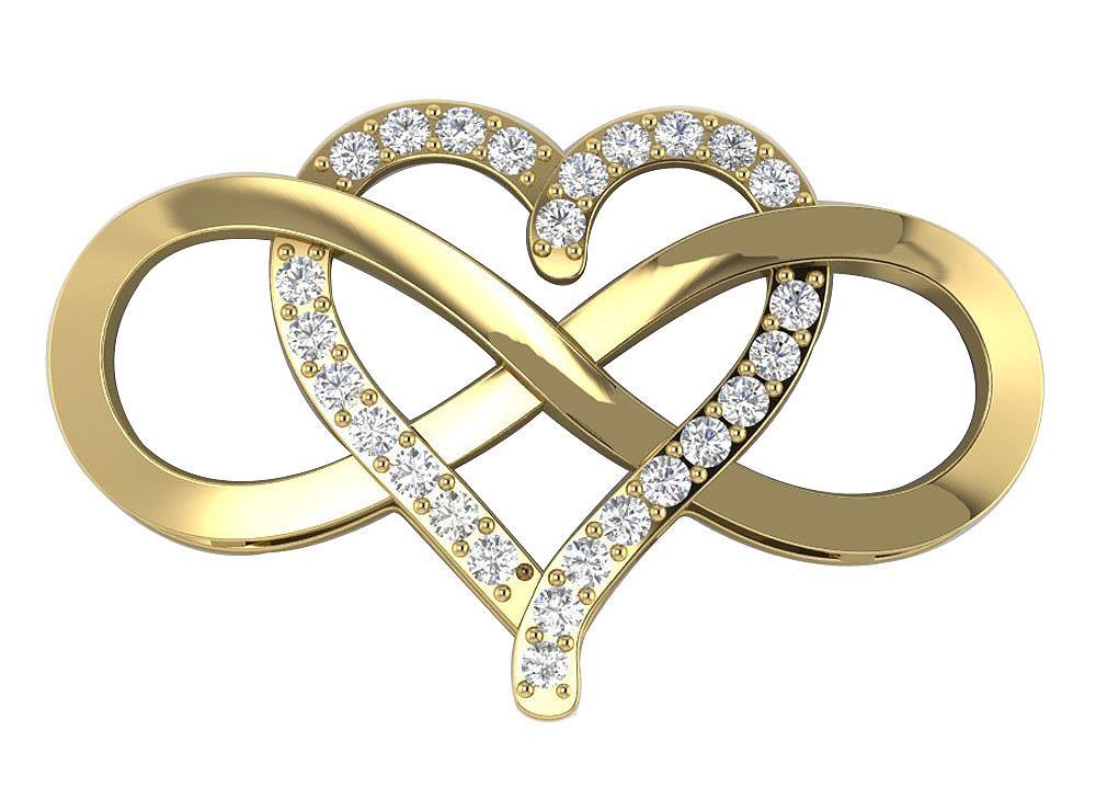 infinity heart pendant necklace i1 h natural. Black Bedroom Furniture Sets. Home Design Ideas