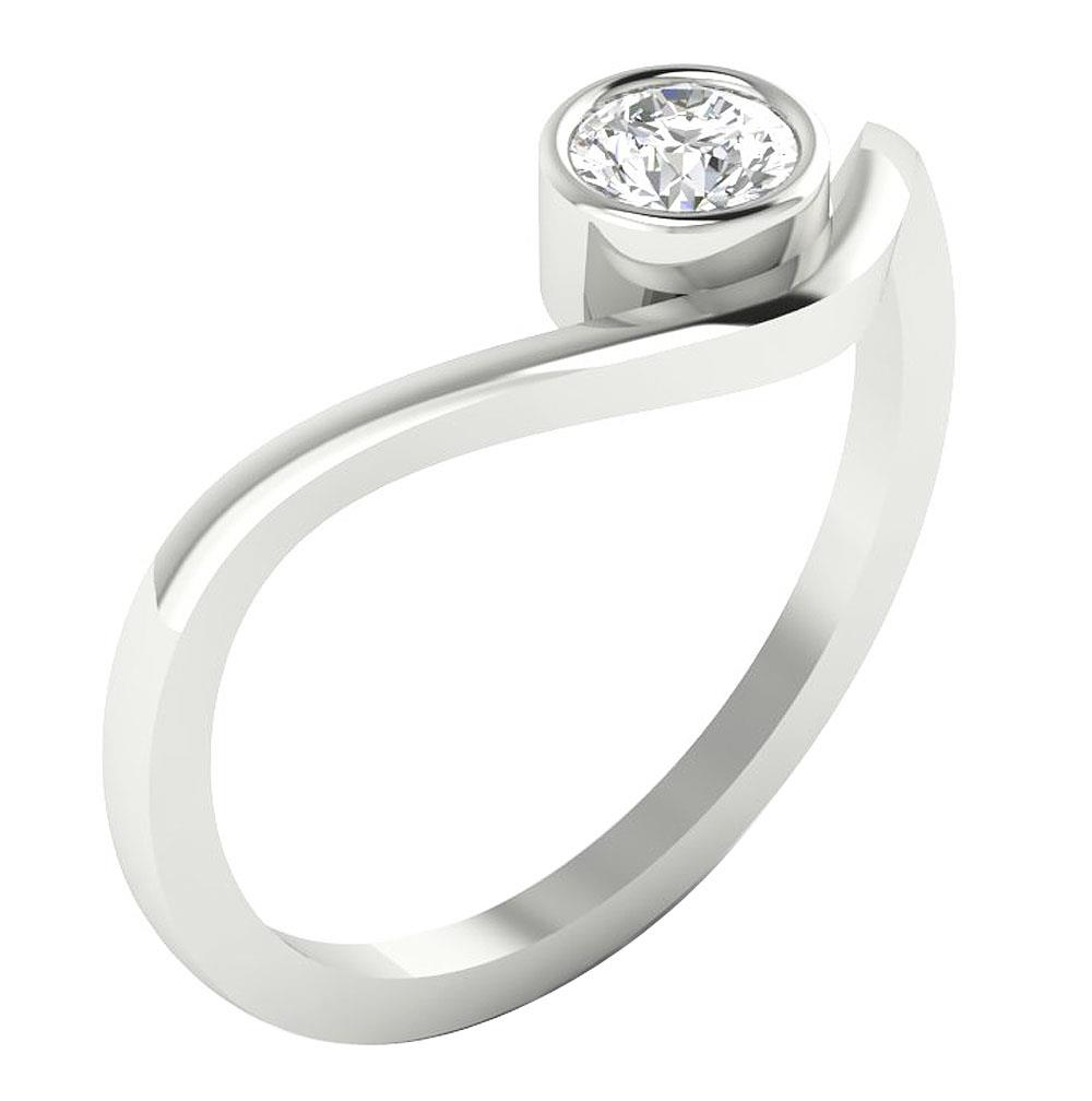 Natural-Diamond-SI1-G-0-30-Ct-Solitaire-Engagement-Ring-14K-Solid-Gold-Appraisal