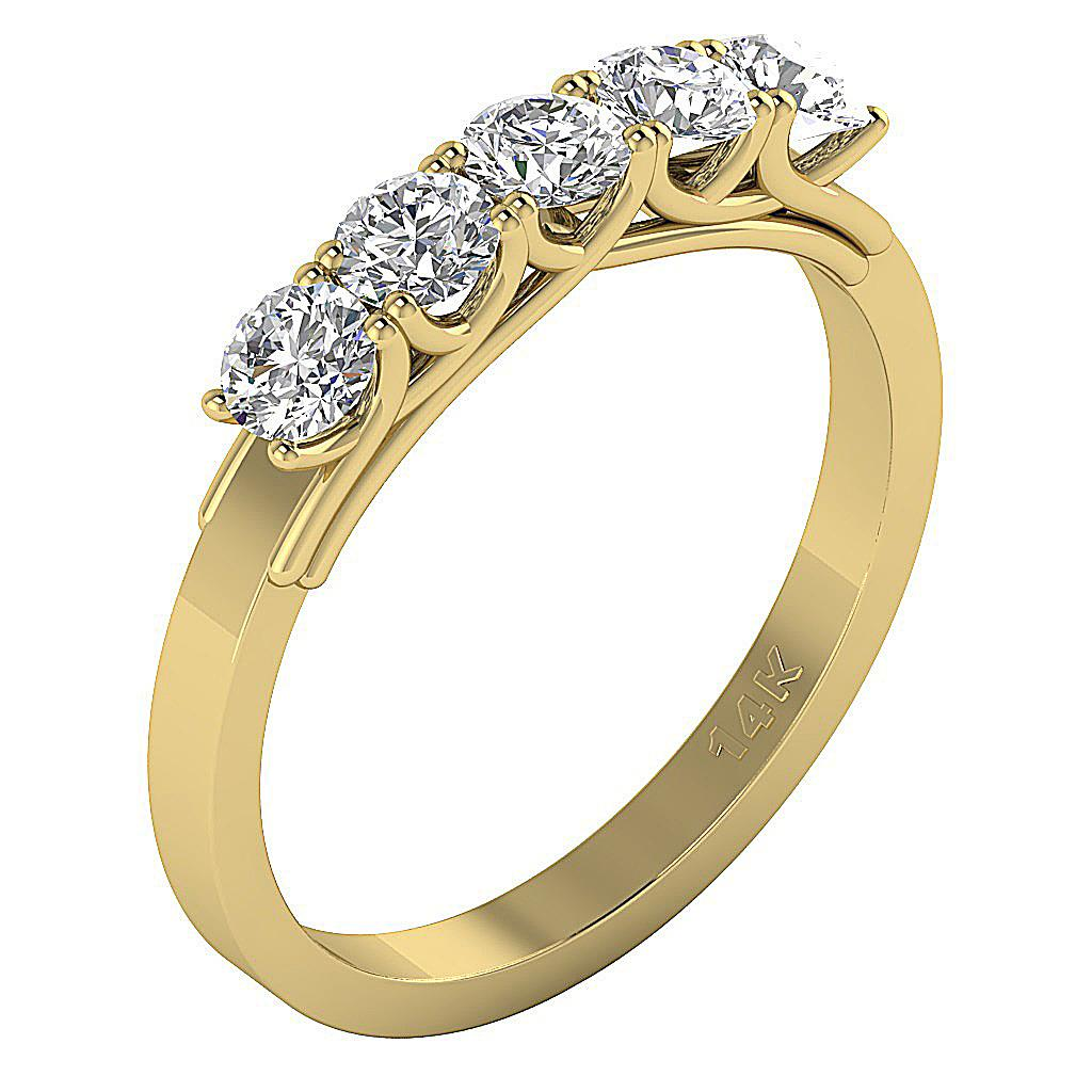 14Kt Solid Gold SI1/G 1.25Ct Natural Diamond Jewelry 5
