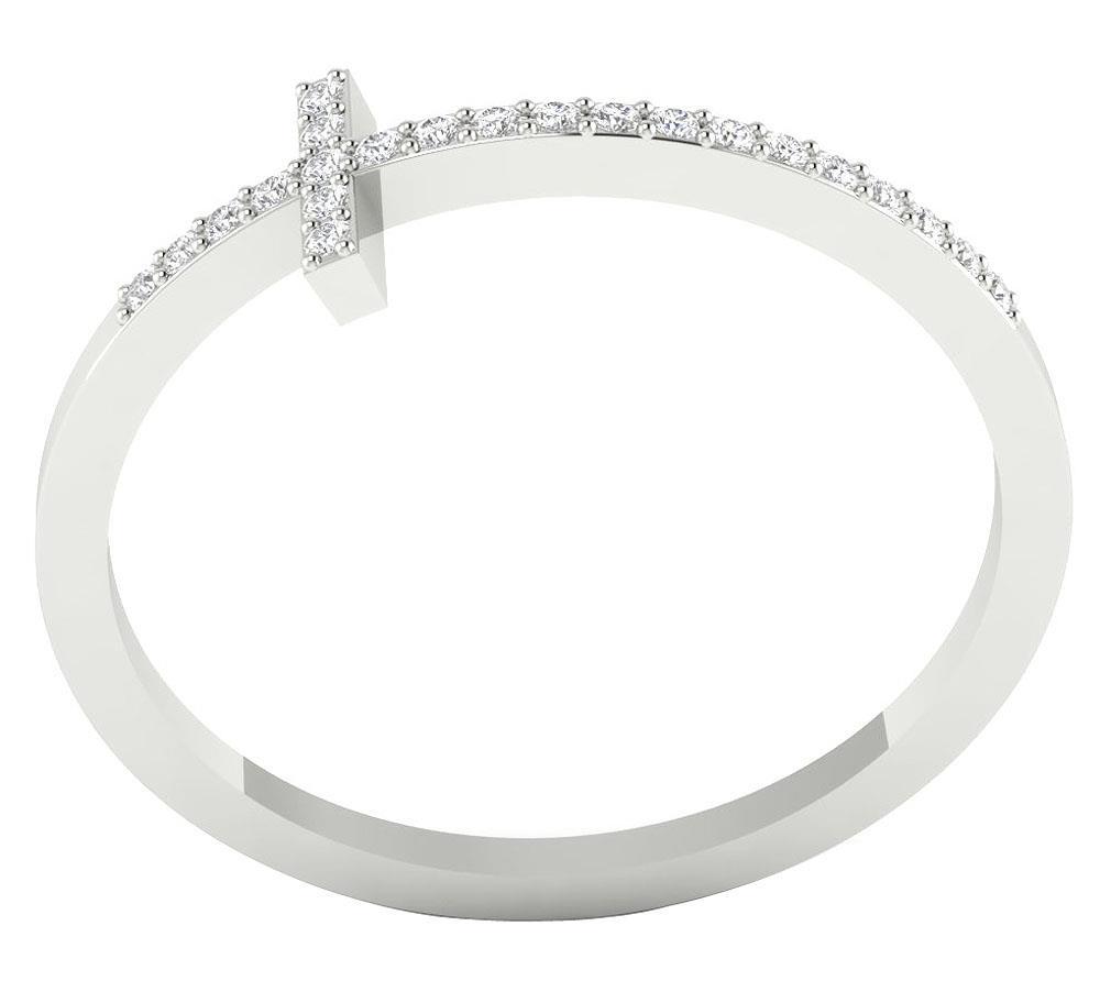 Round Diamond Anniversary Wedding Ring I1 G 0.15 Ct Prong Set 14K Gold 6.10MM