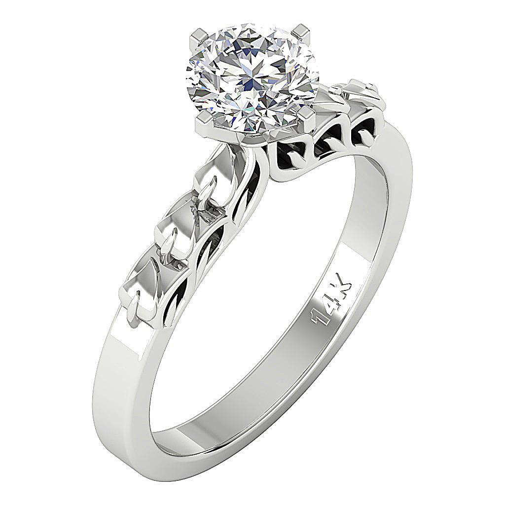 Fine Jewelry Solitaire Anniversary Ring I1 H 1.10ct Genuine Diamond Prong Set 14k Rose Gold