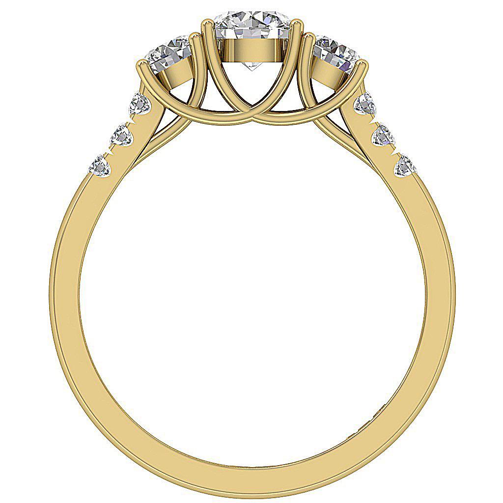 SI1 G 1.10 Ct Prong Set Natural Diamond Yellow Gold 3