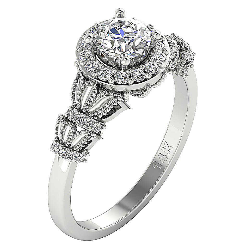 i1 h ct natural diamond solitaire engagement ring. Black Bedroom Furniture Sets. Home Design Ideas