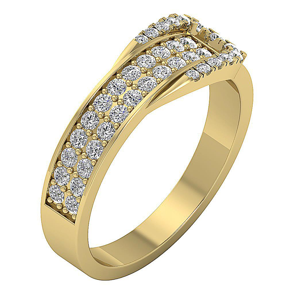 engagement wedding genuine diamond ring i1 h prong set 14kt rose gold ebay. Black Bedroom Furniture Sets. Home Design Ideas