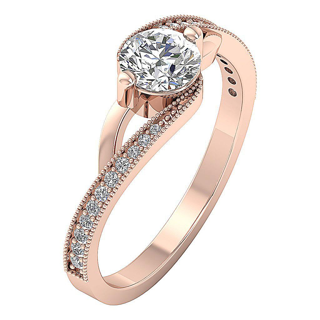 Solitaire-Engagement-Ring-I1-H-1-00Carat-Natural-Diamond-Two-Tone-Gold-Appraisal