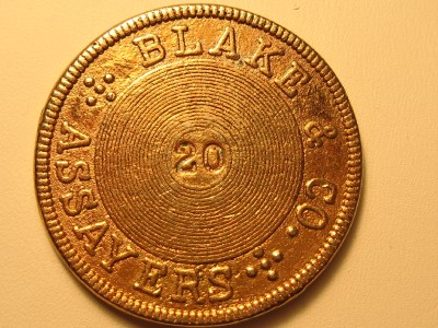 blake and company assayers coin