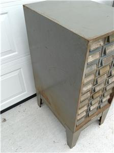 Addressograph 30 Drawer Cabinet with Base Steampunk Industrial #1 ...