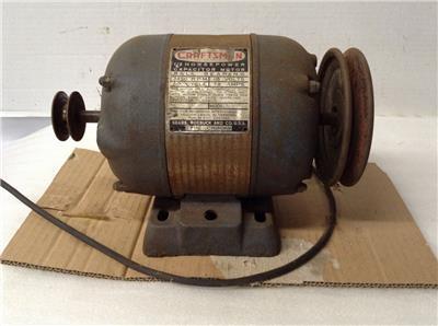 Craftsman table saw motor 1 2 hp ball bearing model 115 for 1 hp table saw motor