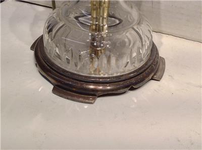 Vintage Antique Lead Cut Crystal Table Lamp Parts Repair