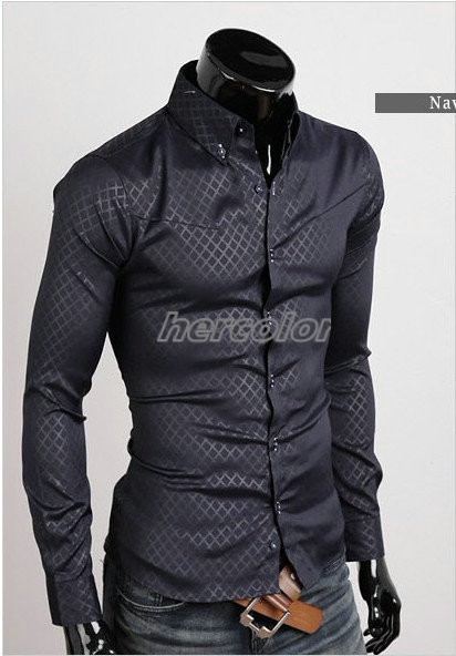 NEWFrance Mens Luxury Casual Slim Fit Stylish Dress lining Plaid